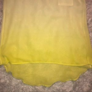 Anthropologie Tops - Anthro - Yellow Ombré High low Key Hole Top
